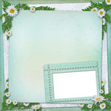 Grunge paper in scrapbooking style Stock Photos