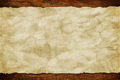 Grunge paper sheet on wooden wall or table in loft style Royalty Free Stock Photography