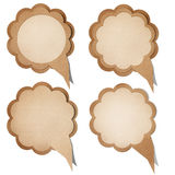 Grunge paper talk icon. Royalty Free Stock Photography