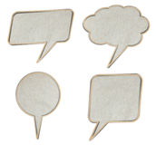 Grunge paper talk icon Stock Photo