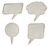 Grunge paper talk icon Stock Photo