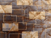 Grunge paper textured abstract geometry rectangle background Stock Images