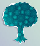 Grunge paper tree Royalty Free Stock Image