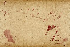 Grunge Paper Vintage Whith Blood Stock Photography