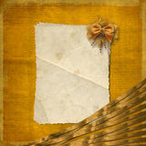 Grunge paper wiht bow. Grunge paper on the abstract background wiht bow Stock Photos