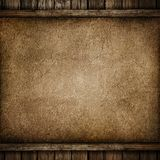Grunge paper on wood background. Or texture Stock Image