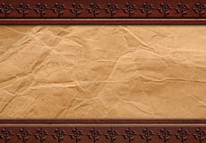 Grunge paper on wood background or texture Stock Images