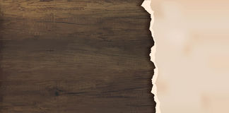Grunge paper on wooden wall Royalty Free Stock Image