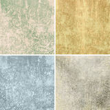 Grunge papers. Four different vintage patterned grunge filled papers royalty free stock photography