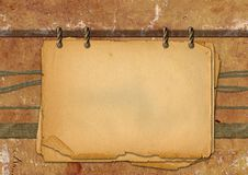 Grunge papers. Design in scrap-booking style grange royalty free illustration