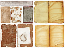 Grunge papers collection. Royalty Free Stock Photos