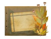 Grunge papers design with foliage Stock Photography