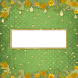 Grunge papers design  with frame and bunch Royalty Free Stock Photos