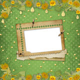 Grunge papers design with frame and bunch Royalty Free Stock Image