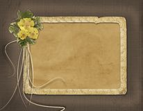 Grunge papers design in scrapbooking Royalty Free Stock Photography