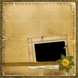 Grunge papers design in scrapbooking style Stock Images