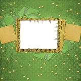 Grunge papers design in scrapbooking style. With frame royalty free illustration