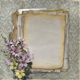 Grunge papers design in scrapbooking style Stock Photos