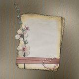 Grunge papers design in scrapbooking style Royalty Free Stock Photo