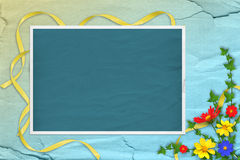 Grunge papers design in scrapbooking style Stock Photography