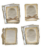 Grunge papers design in scrapbooking style Royalty Free Stock Photography