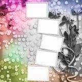 Grunge Papier für Glückwunsch mit Klee Lizenzfreies Stockbild