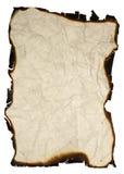 Grunge Papier mit gebrannten Rändern stockfoto