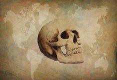 Grunge papier z czaszką Obrazy Stock