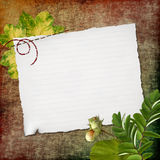 Grunge Papier zu Information Stock Abbildung