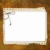 Grunge Papierauslegung zu Information Lizenzfreies Stockbild