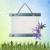Grunge Papiere konzipieren mit Blumen Lizenzfreie Abbildung