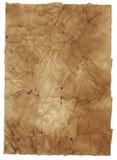 Grunge Papierhintergrund getrennt auf Weiß. Lizenzfreies Stockfoto