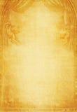 Grunge Papierhintergrund mit Engeln stockbild