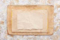 Grunge Papierkarte Stockbild