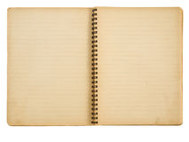 Grunge Papiernotizbuch Stockfoto