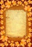 Grunge papieru projekt w scrapbooking stylu z photoframe Obraz Stock