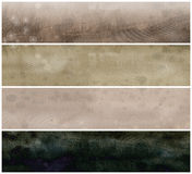Grunge Parchment Banners  or  Headers Stock Image