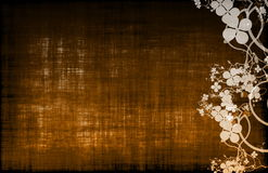 A Grunge Parchment Floral Background Royalty Free Stock Photography
