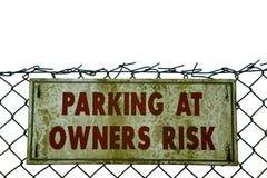 grunge parkingu znak Zdjęcia Stock