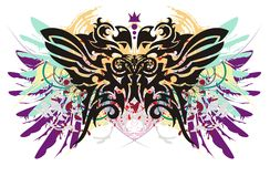 Grunge parrot butterfly Stock Images