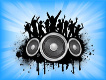Grunge party. People dancing on grunge music background Royalty Free Stock Photography