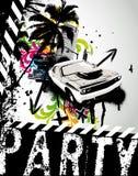 Grunge Party-Auto-Stadt Lizenzfreies Stockfoto