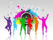 Grunge party background Stock Photos