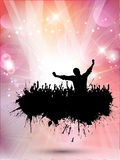 Grunge party background Stock Images