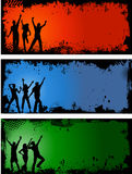 Grunge party backgrounds Stock Images