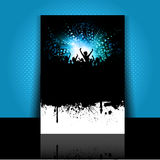 Grunge party flyer layout Royalty Free Stock Photos