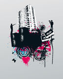 Grunge Party Music City. Vector Illustration vector illustration