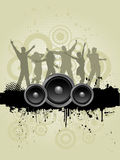 Grunge party people Stock Image