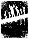 Grunge party people Royalty Free Stock Photography