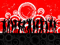 Grunge party people Royalty Free Stock Images